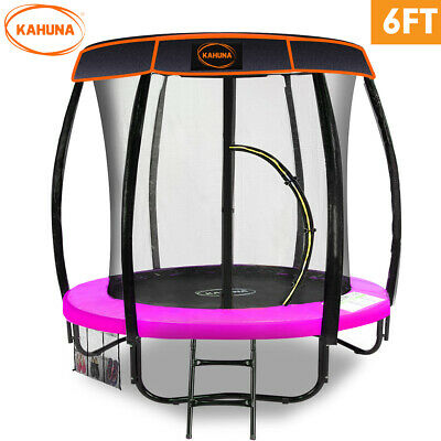 AU879 • Buy Trampoline 6ft With Roof Pink Kahuna