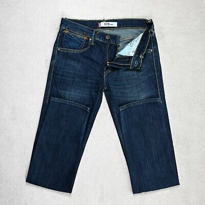Mens LEVIS 519 Slim Fit Stretch Jeans Size W29 L32 Tapered Dark Blue Denim Pants • 24.95£