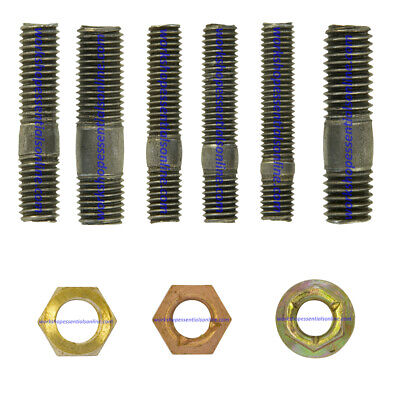 Exhaust Manifold Studs & Brass/Copper Flashed/Steel M8 & M10 Nuts. Metric. • 2.90£