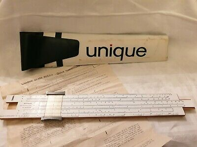 Unique  Slide Rule With Original Case And Instructions- 1960's • 3.50£