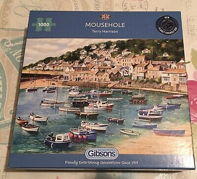 Gorgeous Gibsons Mousehole 1000 Piece Jigsaw Puzzle By Terry Harrison • 4.99£