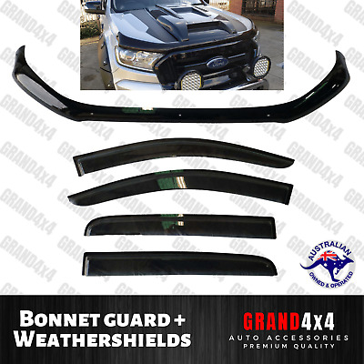 AU149 • Buy Bonnet Protector + Weathershields For Ford Ranger PX2 PX3 2015-2020 Dual Cab