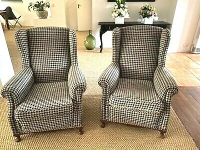 AU1000 • Buy Wing Back Chairs X 2, Original Antique, Great Condition