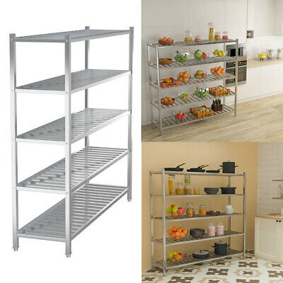 £109.95 • Buy Commercial Catering Storage Rack Shelf Kitchen Stainless Steel Shelving Unit UK