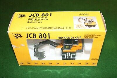 JCB 801 Digger Precision Die Cast Model Scale 1:35 BRAND NEW • 14.99£