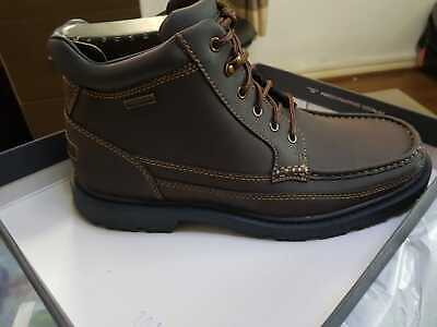 Men's Rockport Moc Toe Dark Brown Size 9 New With Tags Boxed - Waterproof Boots • 100£