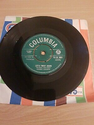 Chubby Checker – Let's Twist Again 1961 7  Vinyl  Columbia DB 4691 • 0.99£