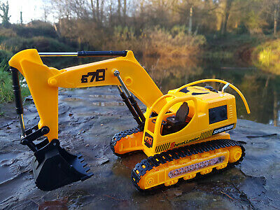 5 Channel RC Construction Excavator Digger Crane Radio Remote Control LIGHTS • 21.99£