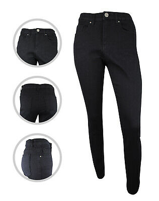 Womens Simply Be Lucy High Waist Denim Skinny Jeans Black Plus Size 12 To 30 • 12.97£