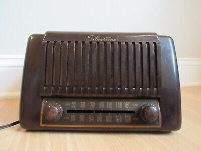 $ CDN101.48 • Buy RARE Tube Radio Vintage SILVERTONE AM LONG RANGE Bakelite COPPER DIAL PLATE