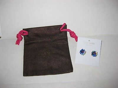 $ CDN21.39 • Buy Kate Spade NY Gold Tone Gumdrops Round Studs Earrings Iridescent Crystals NWT