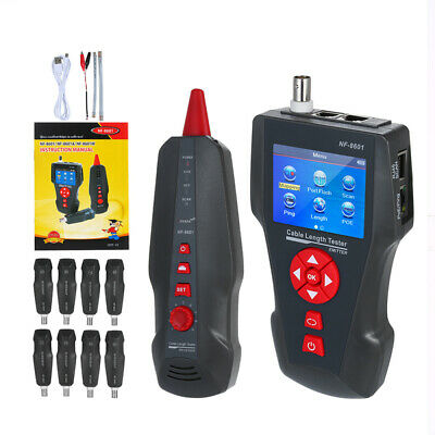 NF-8601W Noyafa Network Line Tracker Cable Finder Tester RJ45 LAN PING/POE Tool • 153.44£