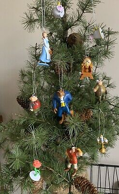 10 Disney Beauty & The Beast Christmas Tree Decoration, Mrs Potts, Chip, Belle • 12.50£