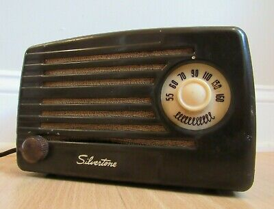 $ CDN151.60 • Buy RARE Tube Radio Vintage Sears SILVERTONE AM Metal Body MODEL 1