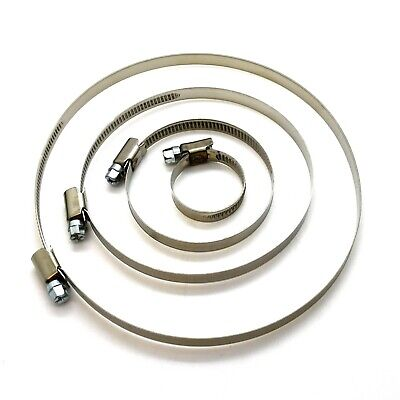 Stainless Steel Hose Clips Jubilee Style Worm Clamp Tubing Pipe Fuel Mikalor • 1.99£