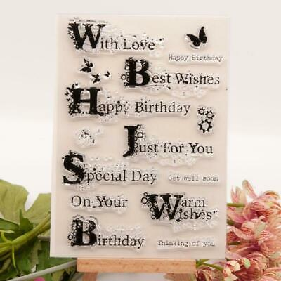 Happy Birthday Silicone Clear Seal Stamp DIY Scrapbooking Embossing Photo Album  • 2.31£