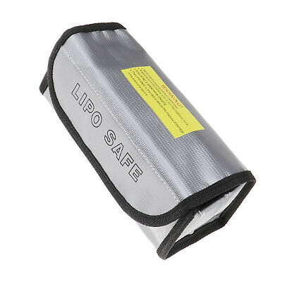 RC LiPo Battery Fireproof Safety Safe Bag Charging Sack Guard Box 185x75x60mm • 7.76£