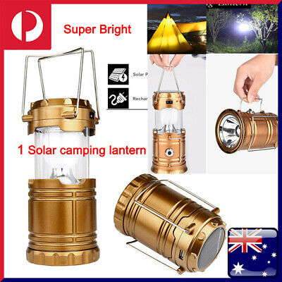 AU15.98 • Buy 6 LED Solar USB Rechargeable Charging Outdoor Camping Tent Lantern Light Lamp