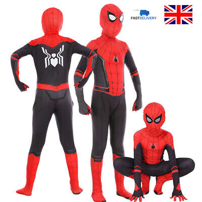 Boys Kids Spiderman Super Hero Cosplay Costume Child Clothes Outfits Fancy Dress • 16.79£