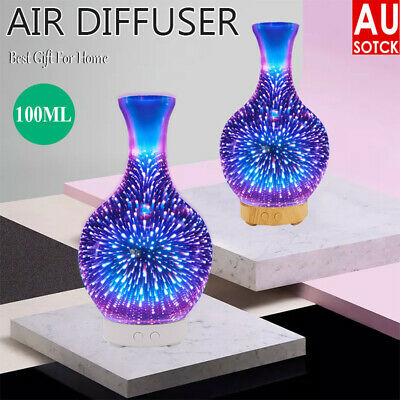 AU30.69 • Buy Firework 3D Aromatherapy Diffuser Aroma Essential Oils Ultrasonic Air Humidifier
