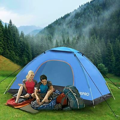 AU36.99 • Buy 3-4 Man Person Pop Up Dome Tent Family Festival Camping Auto Beach Sun Shelter