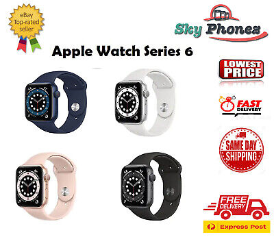 AU629 • Buy NEW Apple Watch Series 6 40MM/44MM AL Case Sport Band GPS Only All Colors AU SEL
