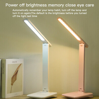 AU12.29 • Buy Touch LED Desk Lamp Bedside Study Reading Table Light Dimmable Lamp USB Ports AU