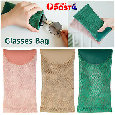 AU6.92 • Buy Mouth Snapped Sunglasses Eyeglass Glasses Case Soft Pouch Bag Pocket Spectacle