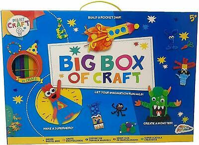 BIG BOX OF ART AND CRAFT Activity Kit Set With Various Accessories Kids Gift Toy • 9.99£