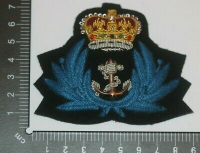 £15 • Buy British Royal Navy Wrns Wrens Female Officer Cloth Cap Badge Post Wwii