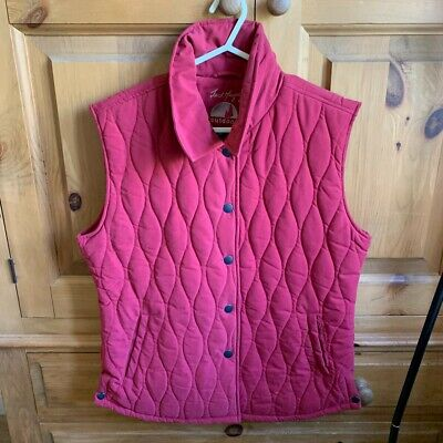 £30 • Buy JACK MURPHY OUTDOOR WOMENS UNISEX Size 14 Red Quilted Padded Gilet Jacket