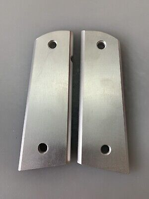 $29.75 • Buy Aluminum 1911 Grips  Engravers Blank Flat Top Flat Bottom Mag Well. NEW Thins!!
