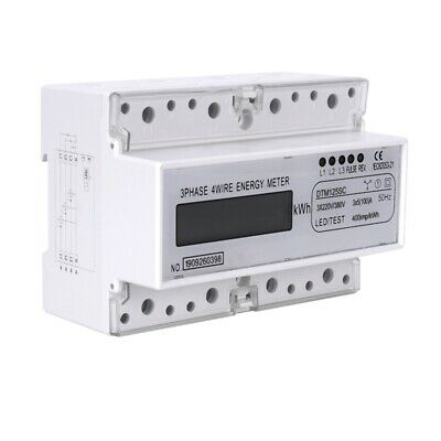 AU36.99 • Buy Three Phase 7P LCD Display 3xAC220/380V 50Hz Din Rail Digital Meter Power M R3K2