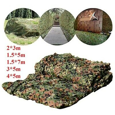 Camouflage Netting Camo Net UK Hunting Shooting Camping Army Green Hide Cover • 10.98£