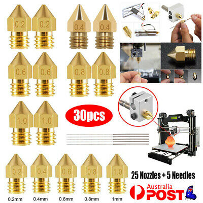 AU16.85 • Buy 30PCS 3D Printer Nozzle Cleaning Needle Set For Ender 3 PRO CR10 MK8 Extruder