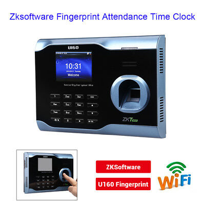 U160 LCD Biometric Fingerprint Scanner Time Clock Check In Out For School Hotel • 102.09£