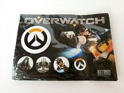 AU15.99 • Buy Collectable Overwatch Promotional Badge/Pin Set, Blizzard, Over Watch, Promo