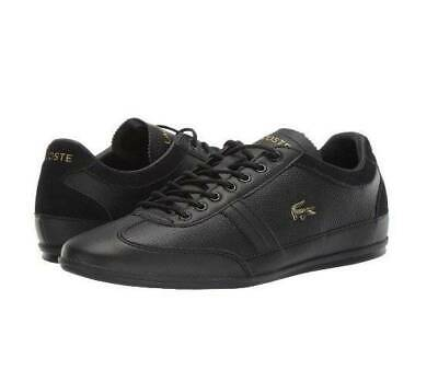 NWB Lacoste Misano 119 Men's Leather Lace Black Lace Up Sneakers 11.5 • 57.21£