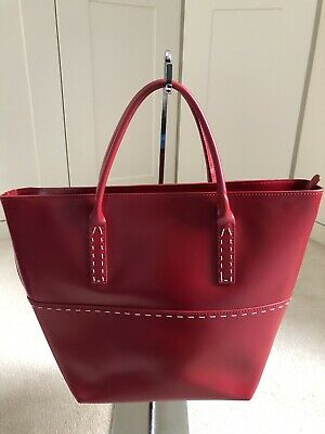 Ladies Leather Viyella Red Handbag - New No Tags Top Condition  • 55£