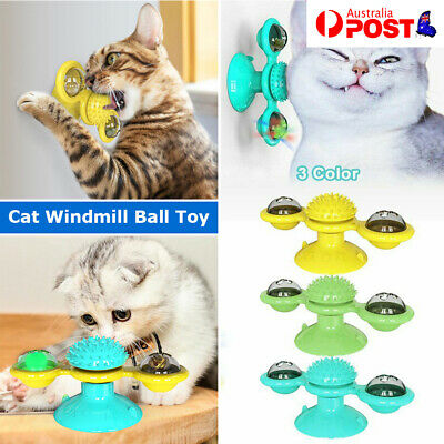 AU8.55 • Buy Cat Toys Windmill Pet Dog Turntable Interactive Toy Scratch Hair Tickle Brush