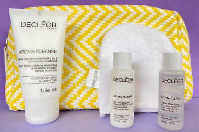 Decleor Aroma Cleanse 3-in-1 Hydra-Radiance Cleansing Mousse 50ml Mitt+ GIFT SET • 22.95£