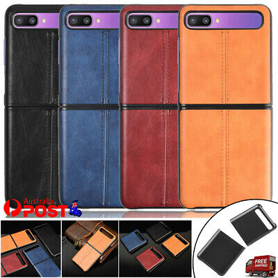 AU7.99 • Buy For Samsung Galaxy Z Flip 5G Case Luxury Leather Pattern Shockproof Back Cover