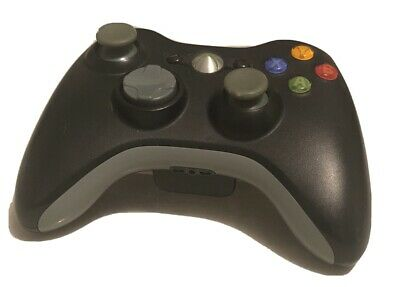 AU38 • Buy Microsoft Black Xbox 360 Controller Original Wireless With NEW CHARGE KIT