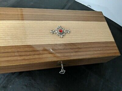 Vintage Rare Art Deco Style Jewellery Musical Box With Key   • 45£