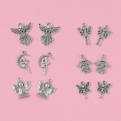 £3.50 • Buy Fairy Charms Mixed Tibetan Silver Pack Of 24