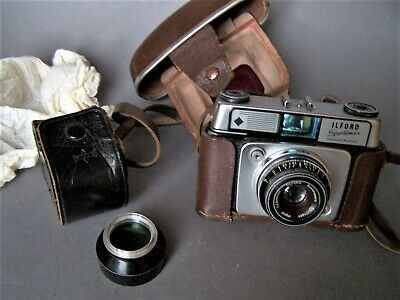 4. ILFORD Sportsman West German Camera In Leather Case + Colour Filter In Case • 14.99£