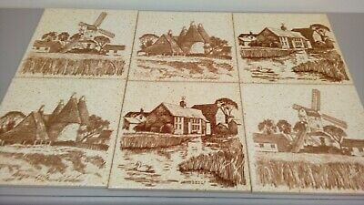 £12 • Buy H&R Johnson Retro - 6 X Vintage Cristal Harmony Country Collection Tiles