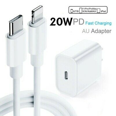 AU19.95 • Buy For IPhone 12 Pro Max 11 IPad 20W USB Type-C Wall Fast Charger PD Power Adapter