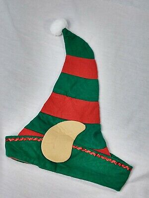 £3.78 • Buy ELF HAT Red & Green Christmas Jester Cap With Ears