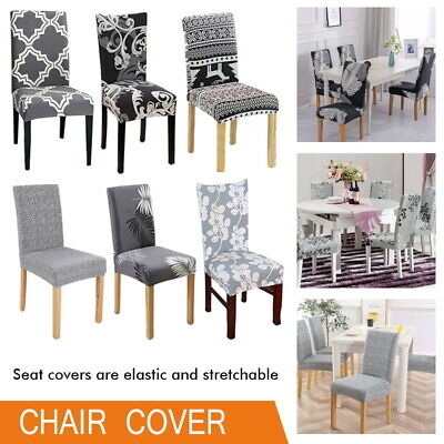 AU27.97 • Buy Stretch Dining Chair Covers Slipcover Spandex Wedding Cover 1/4/6/8Pcs Removable